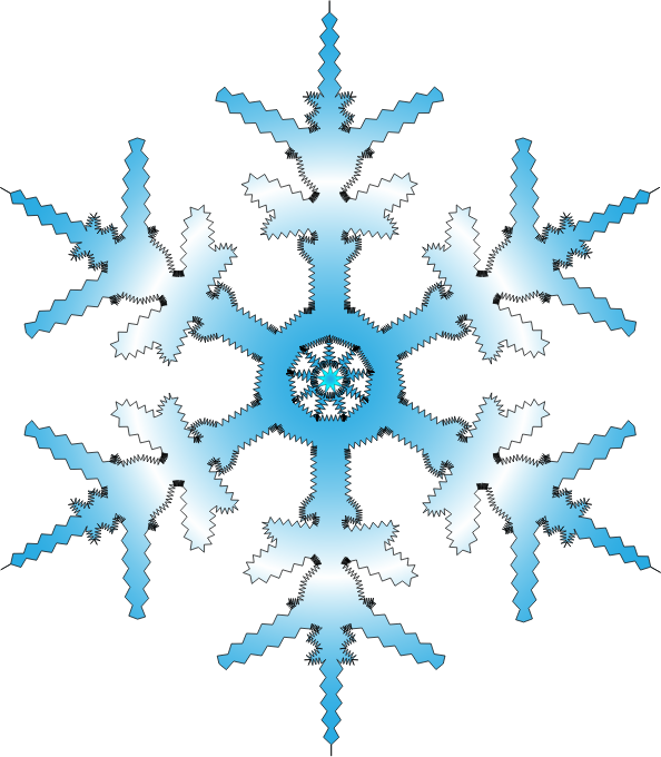 Snowflake clipart modern. Free to use public