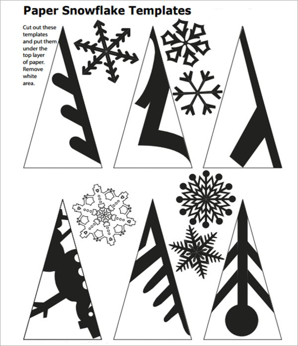 Clipart snowflake cut out. Template to snowflakes snowf