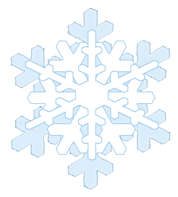 Icicles clipart blue snowflake. Winter shape tripple
