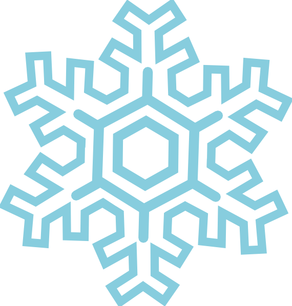 Icicles clipart blue snowflake. Stylized clip art at