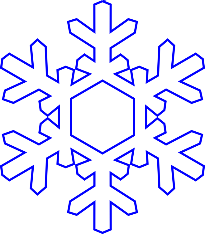 Snowflake clipart drawing. Paper coloring book outline