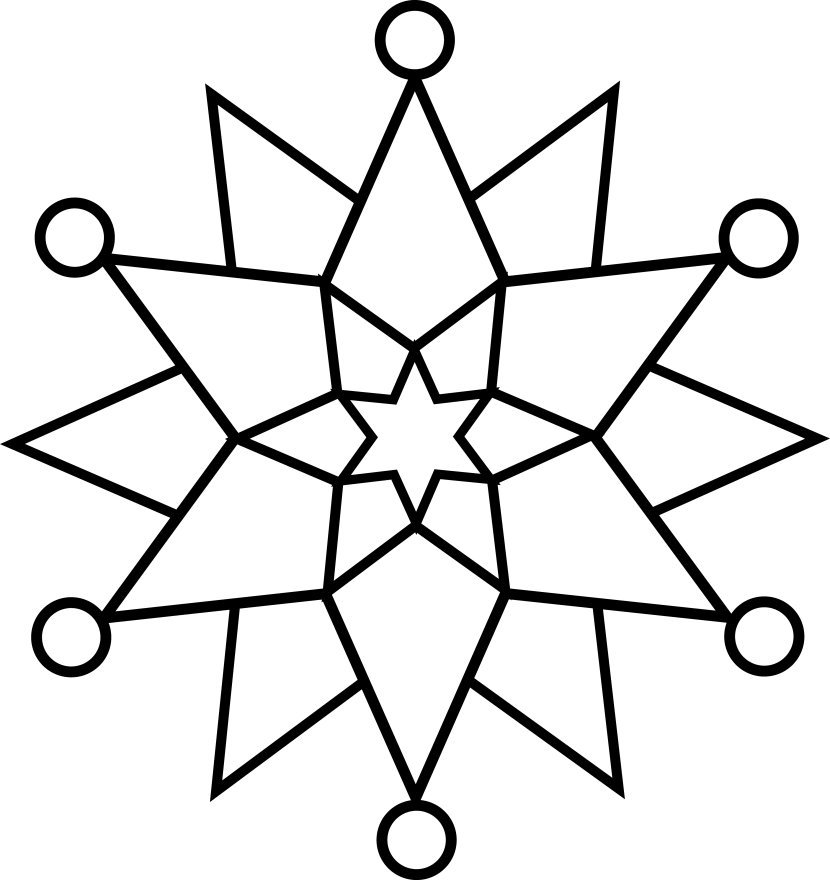 Clipart snowflake easy. Line simple black and