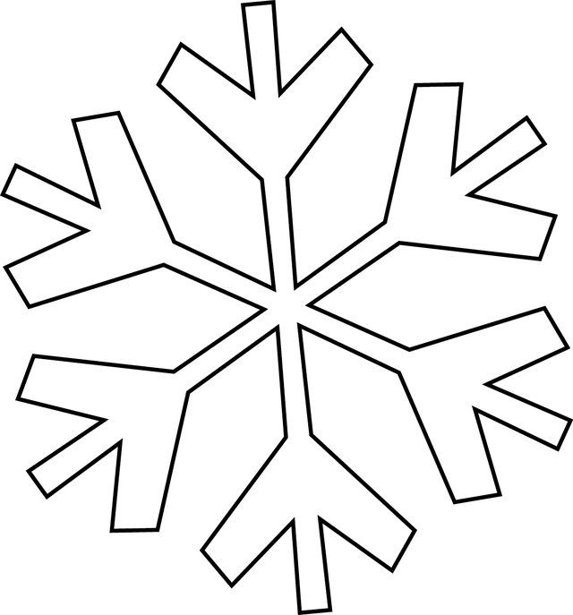 Make your holiday cards. Clipart snowflake easy
