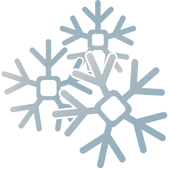 Snowflakes clip art at. Snowflake clipart frost