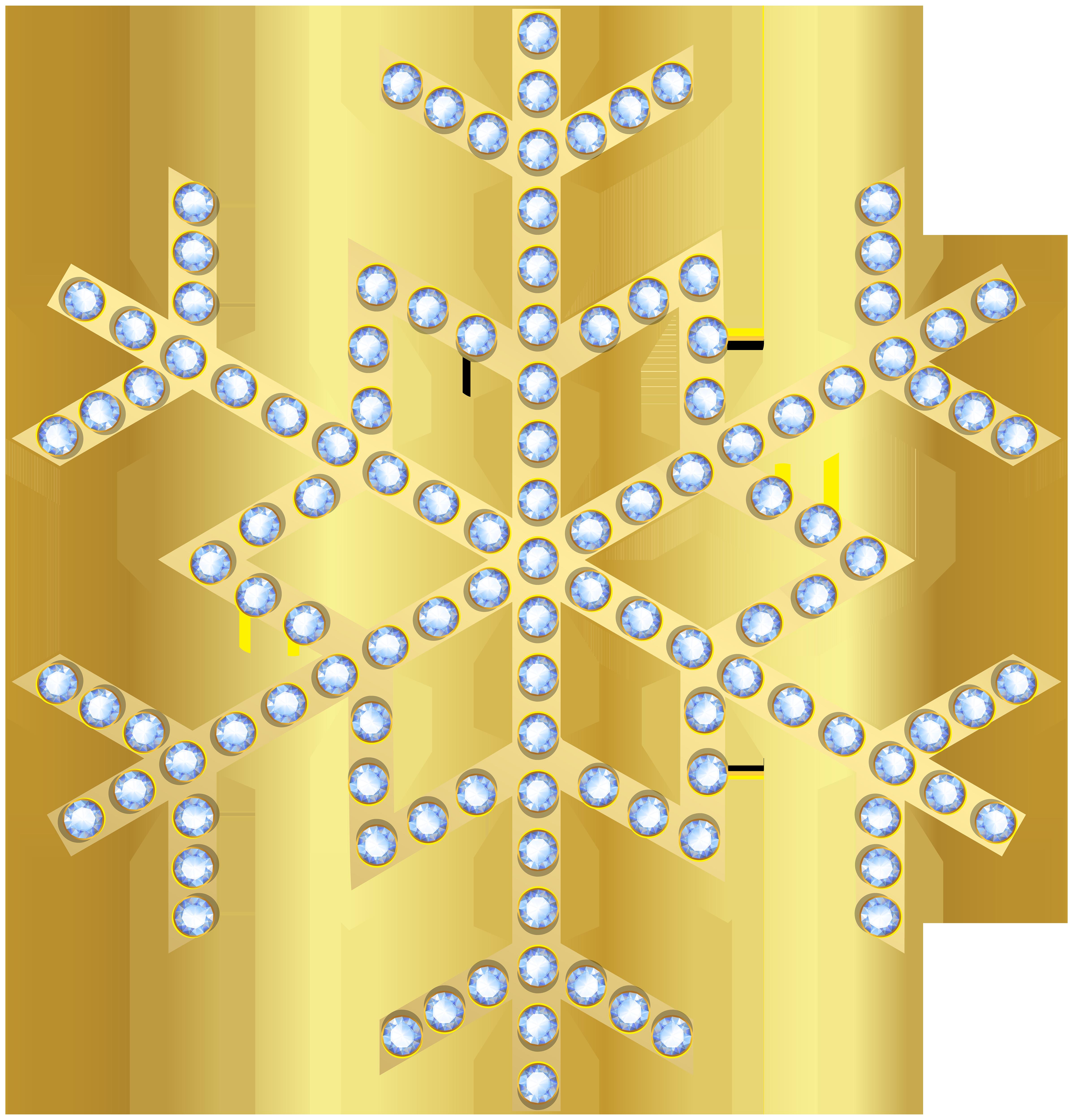 Winter clipart snowflake. Gold transparent clip art