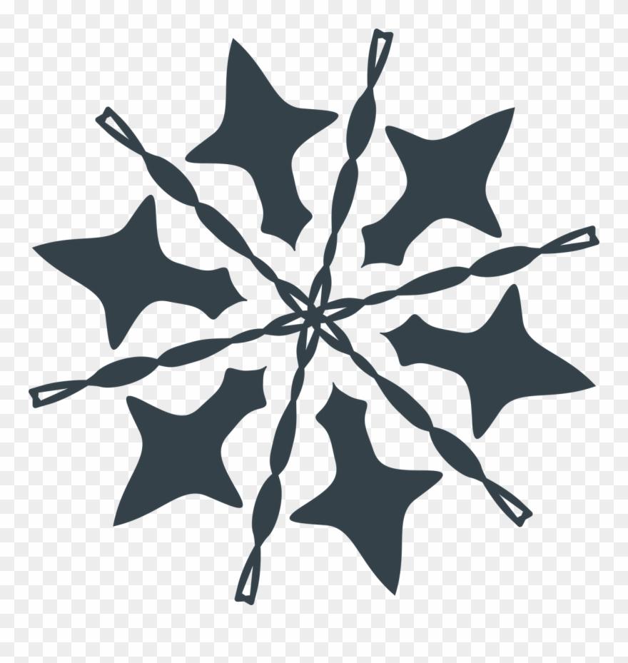 Let it snow . Clipart snowflake illustration