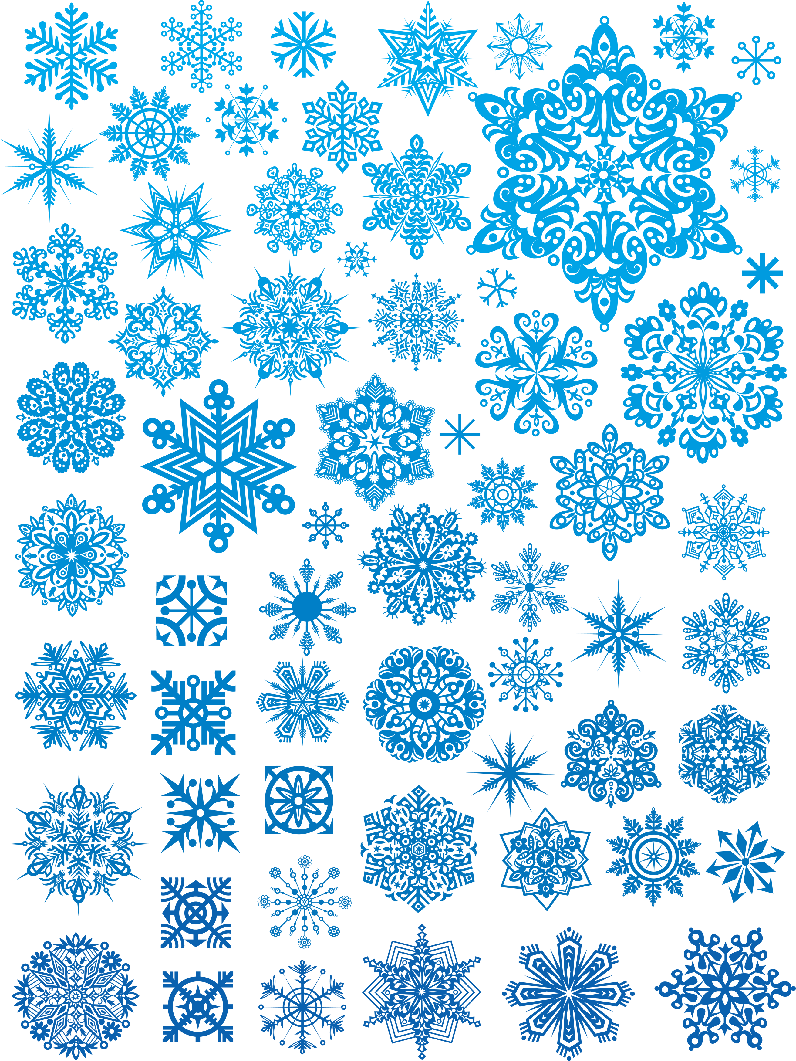 Winter clipart blizzard. Snowflakes png image christmas