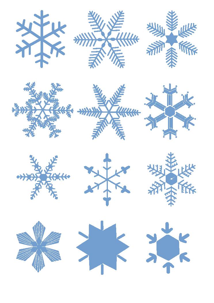 Clipart snowflake light blue. Clip art transparent snowflakes