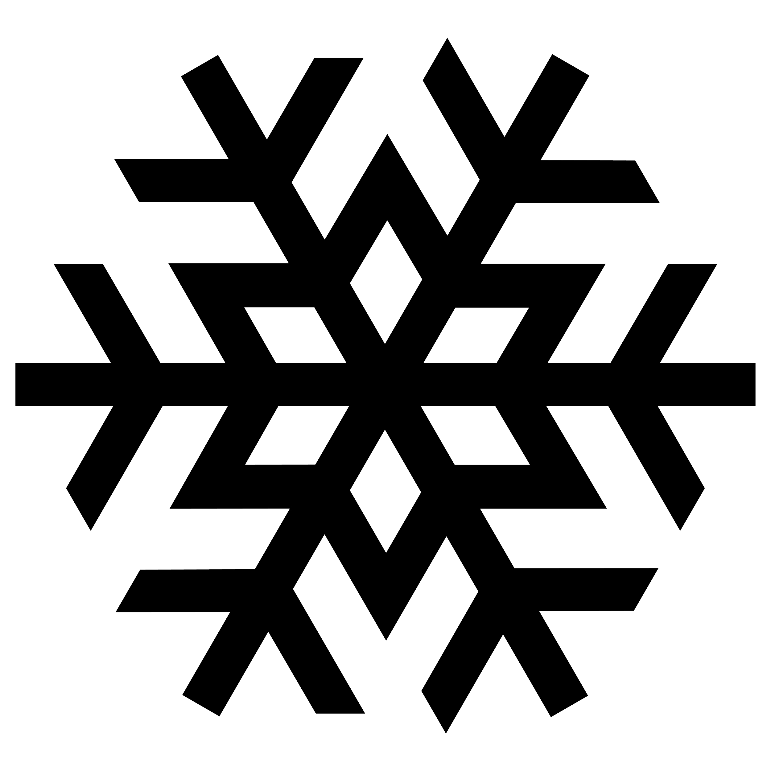 Silhouette png image wzory. Snowflake clipart modern