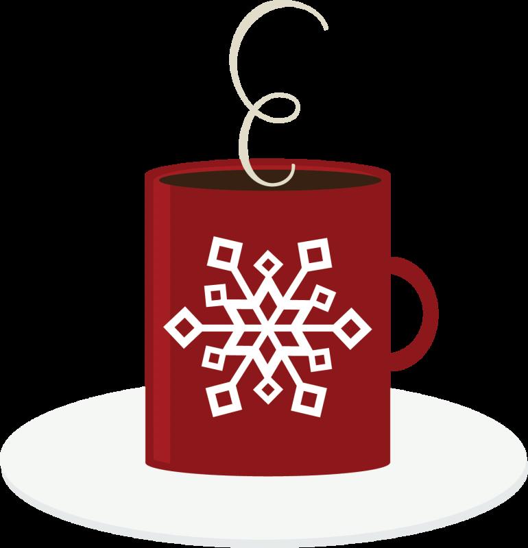 Mug clipart snowflake. Hot cocoa free svg