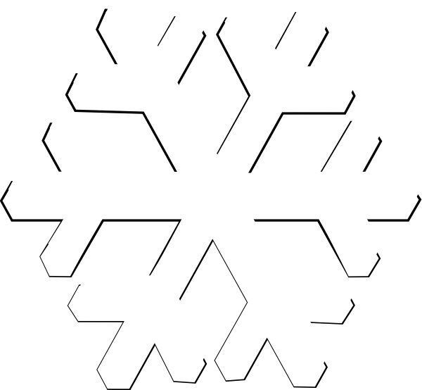 Snowflake vector png. Transparent background clipart panda