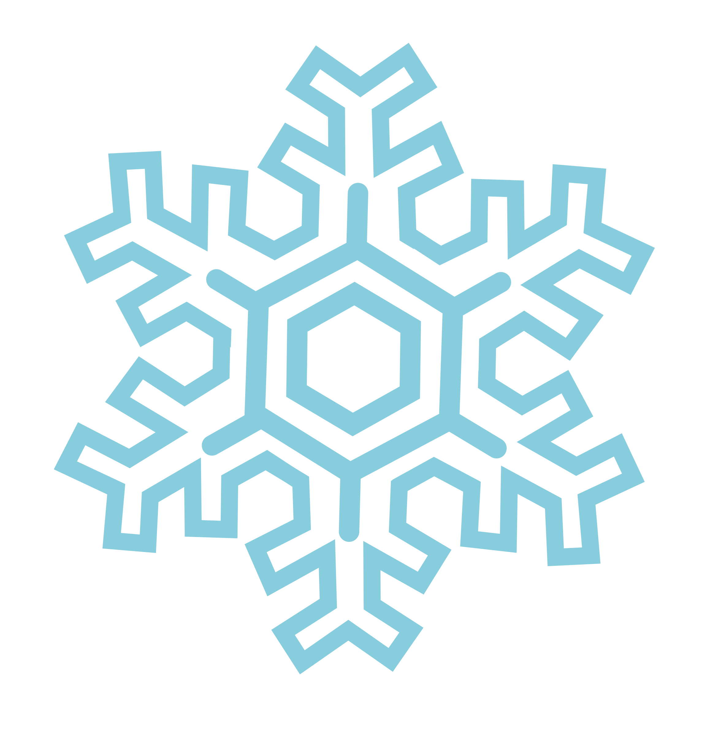 Stylized big image png. Winter clipart snowflake
