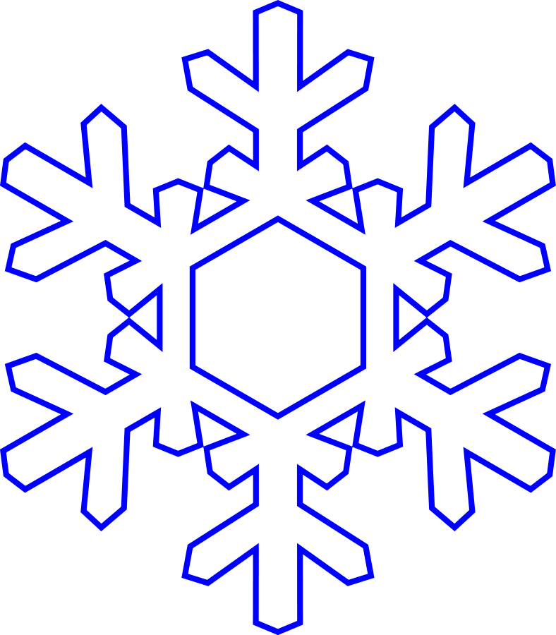January large snowflake