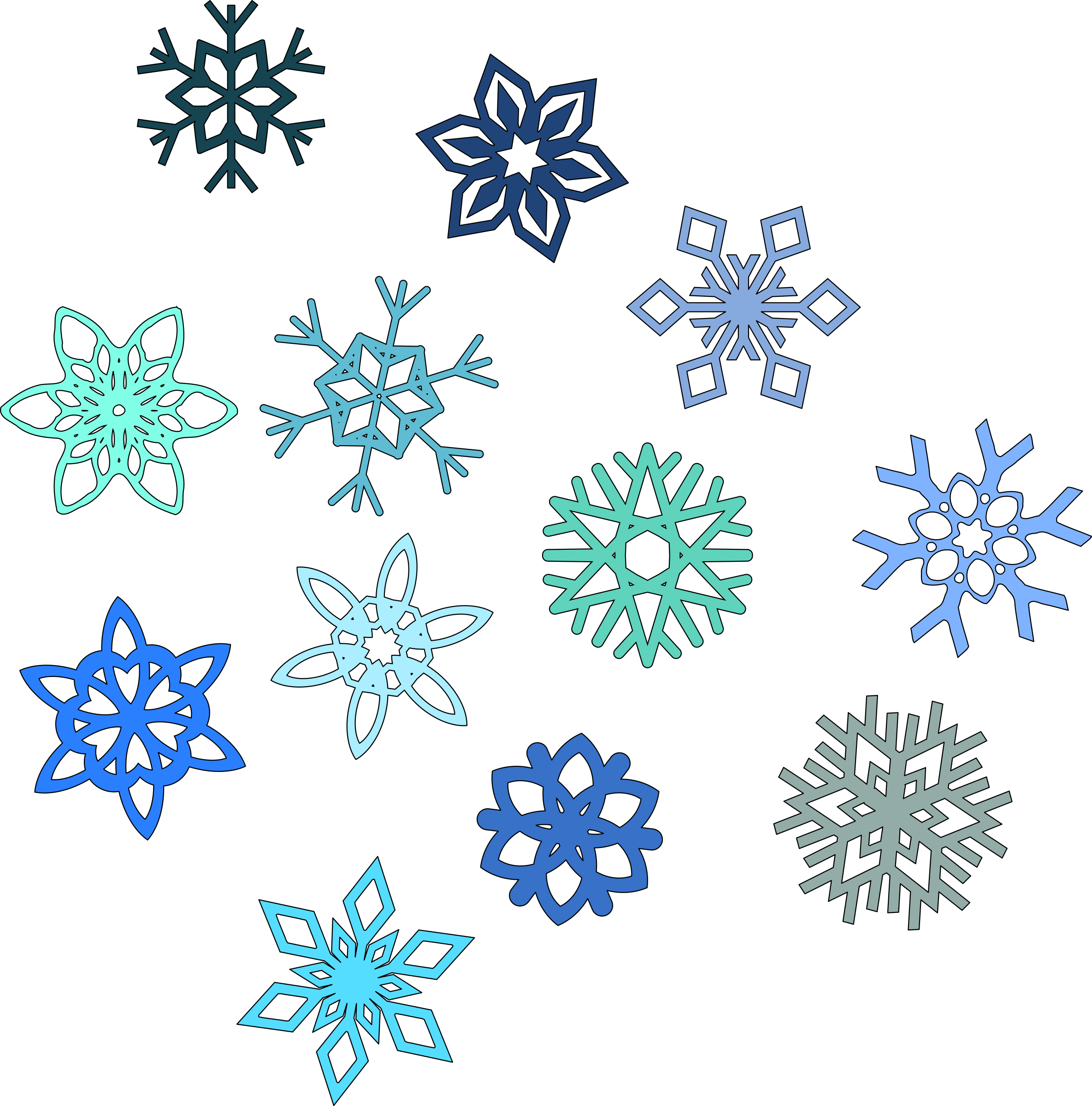 Snowflakes big image png. Frozen clipart snow