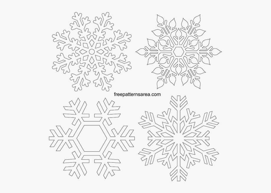 Printable snowflakes cut out. Snowflake clipart pdf