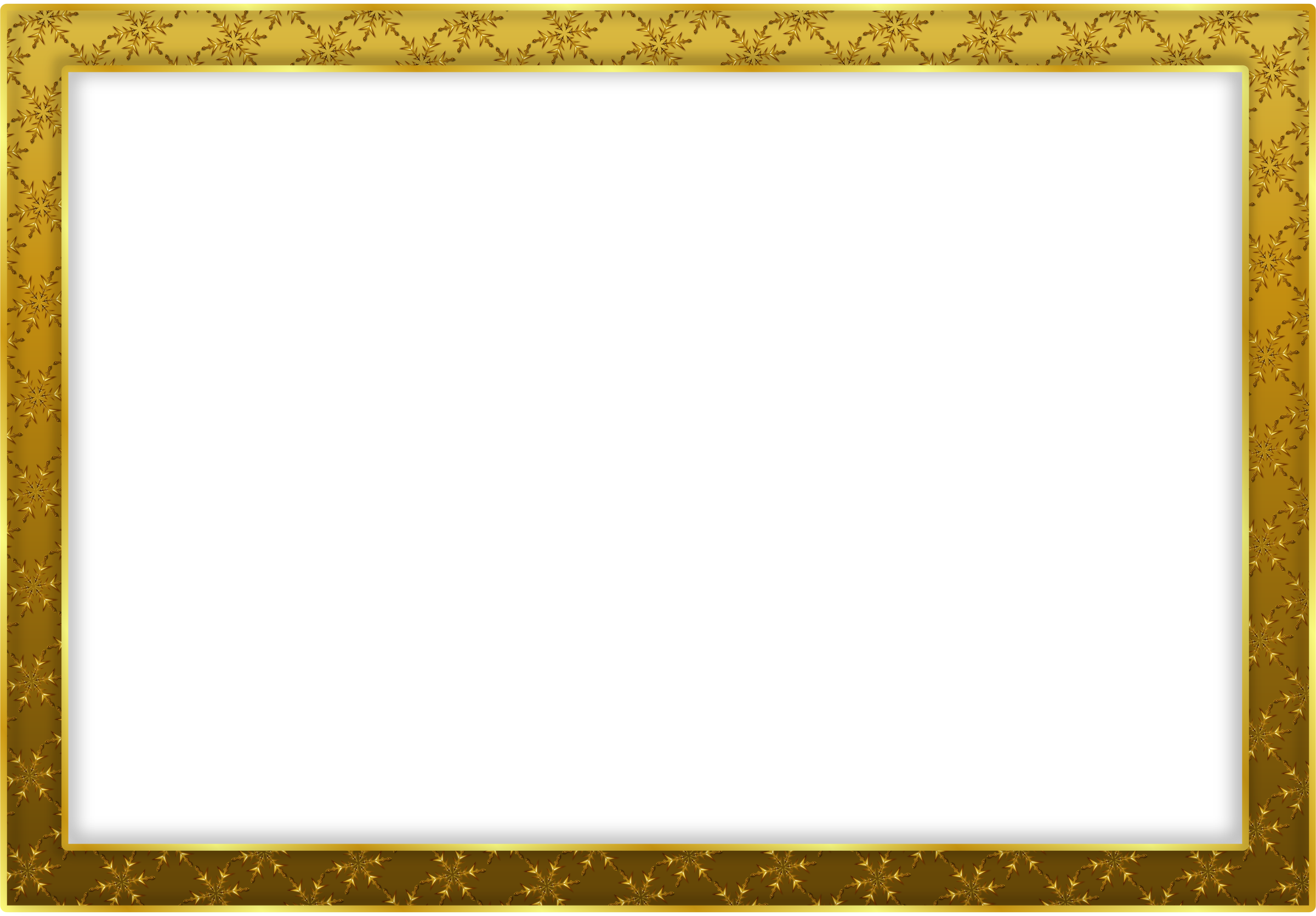 Snowflake frame png. Clipart gold big image