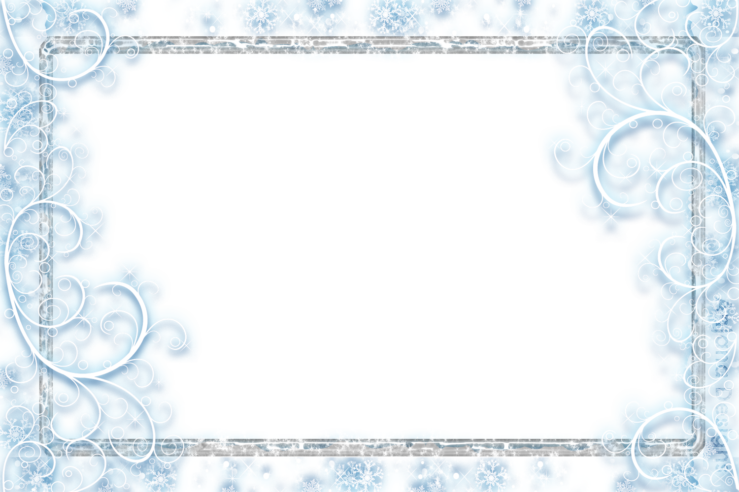 Snow frame png. Snowflakes falling transparent pictures
