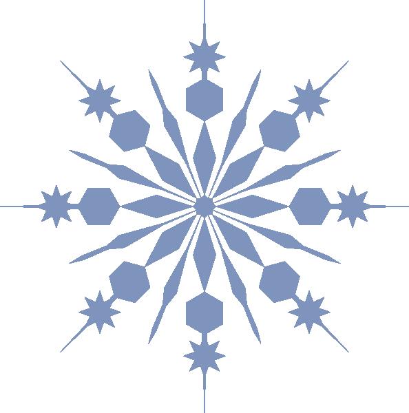 Snowflake pale blue