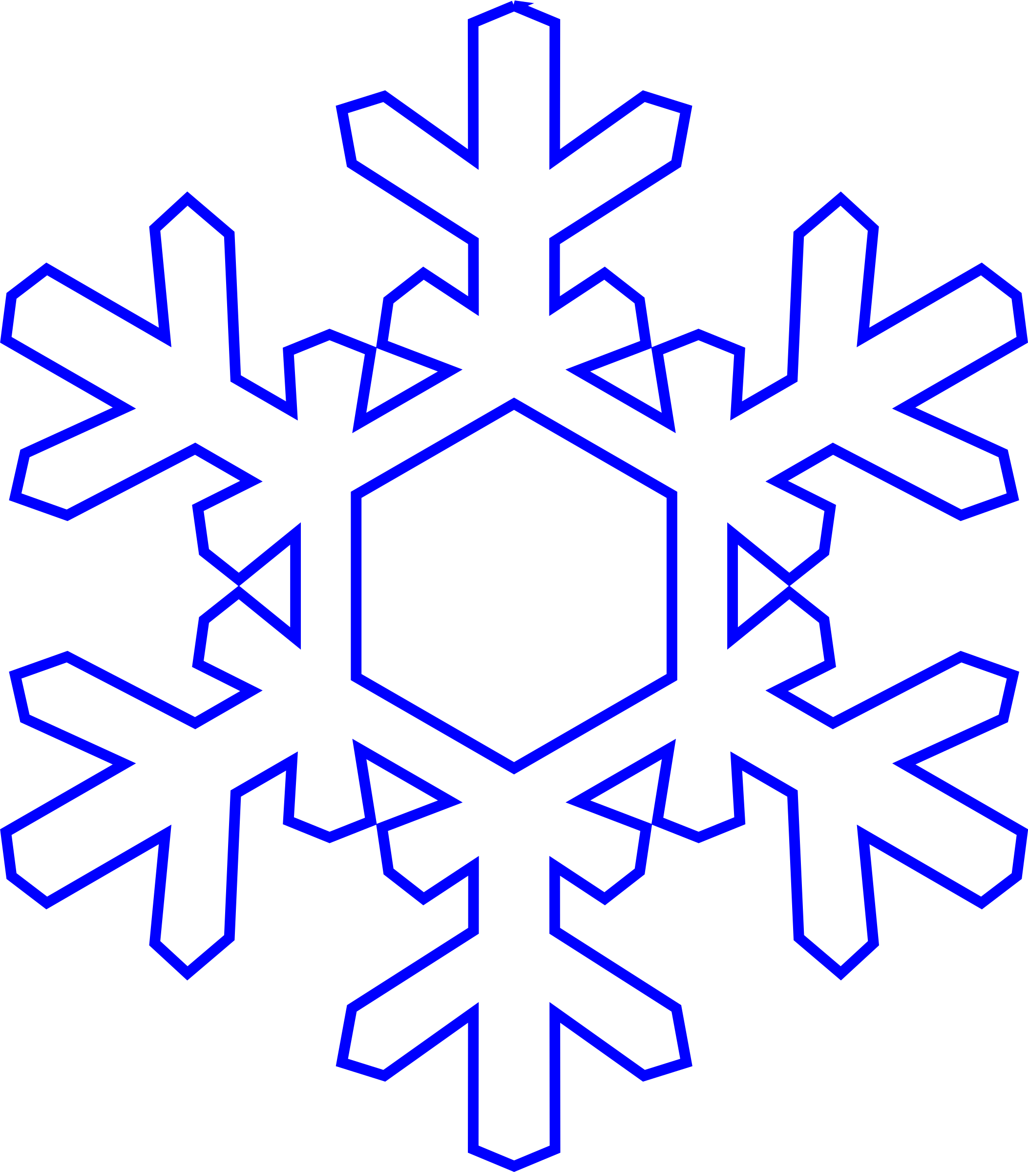 Winter clipart newsletter. Snowflake simply big image