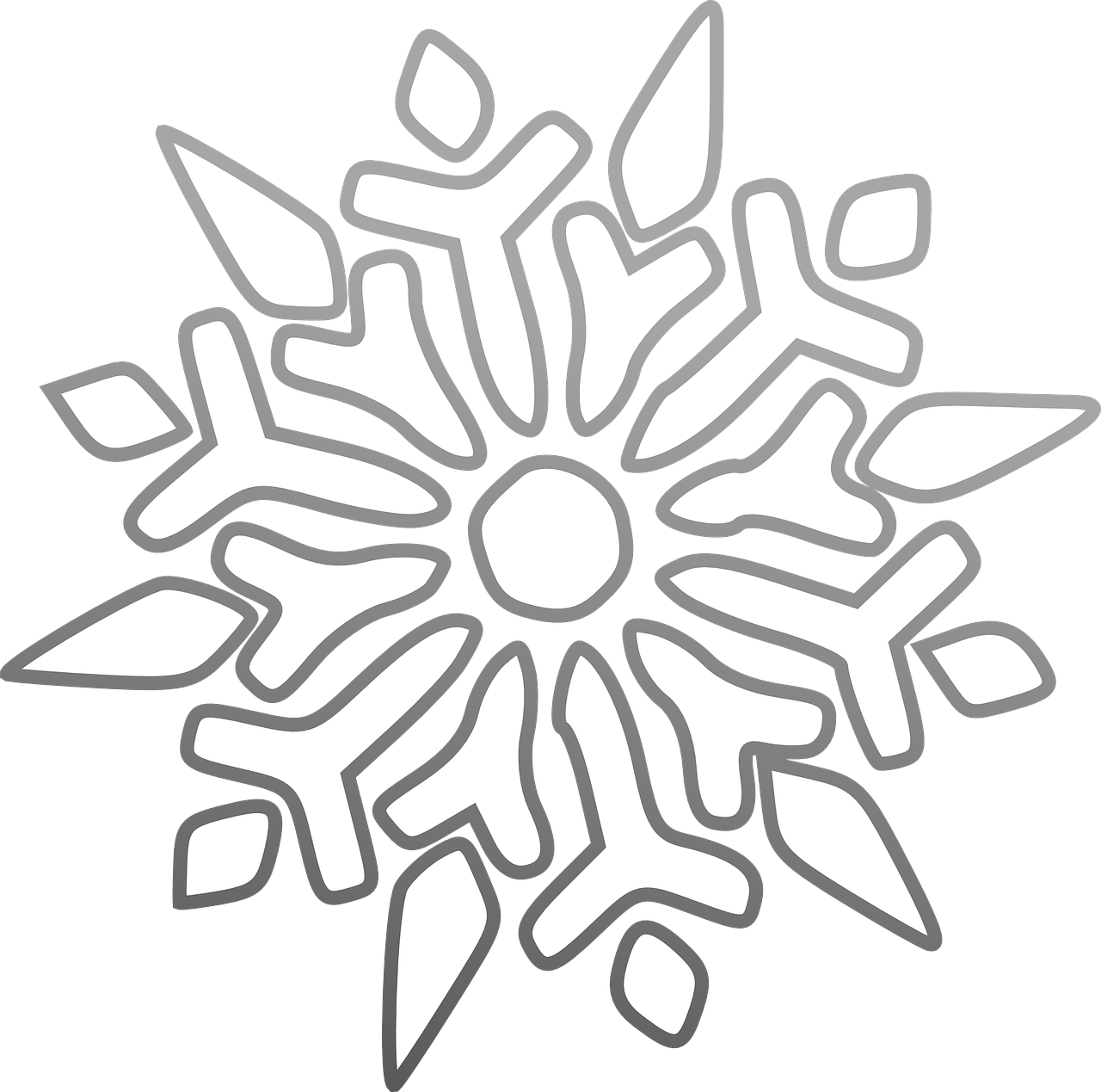 Snowflake ice frost cold. Clipart star winter