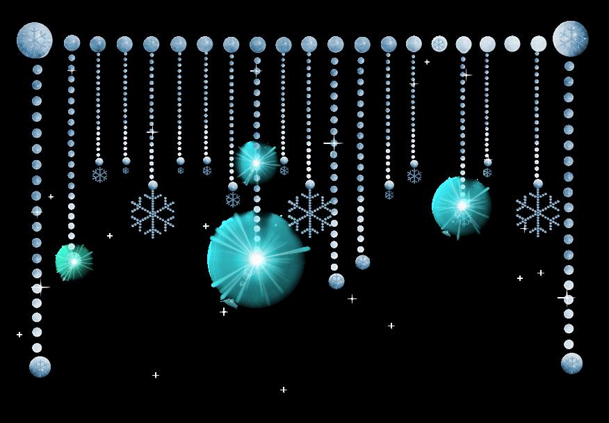 Snowflake design by julee. Glitter clipart divider