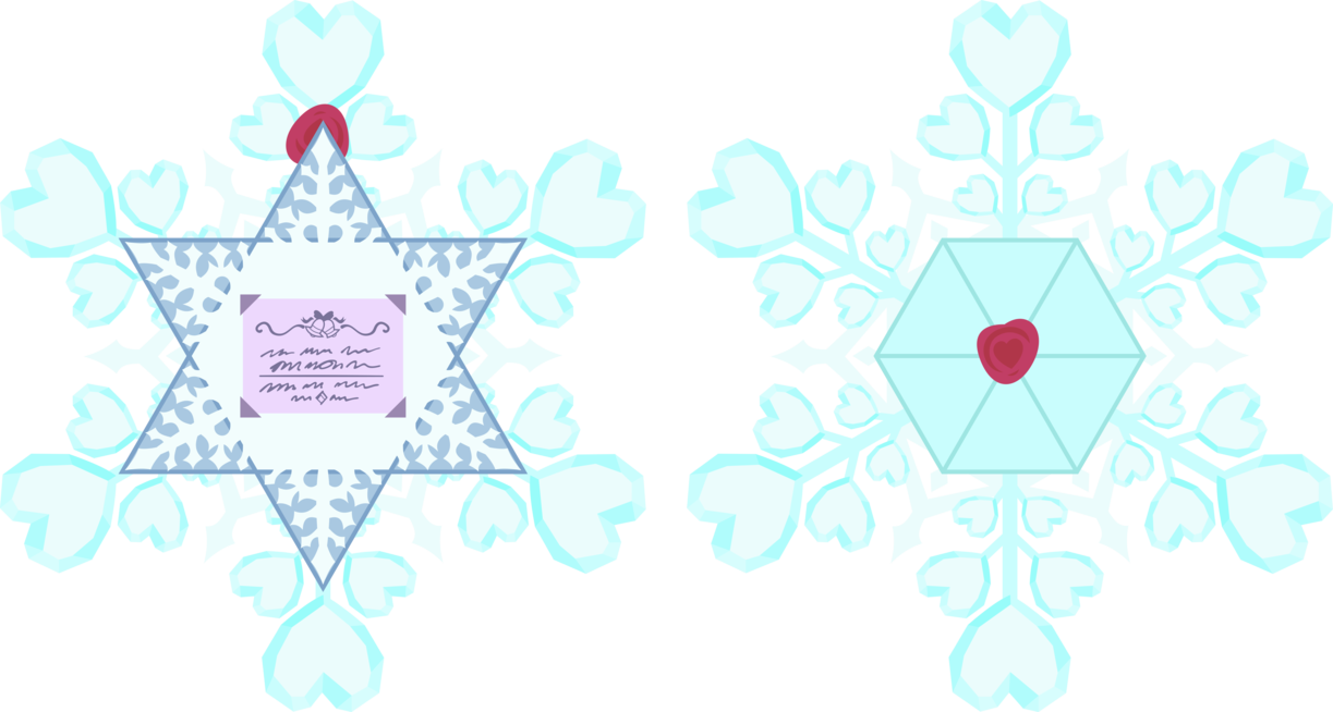 Envelope clipart reference letter. Snowflake from the crystal
