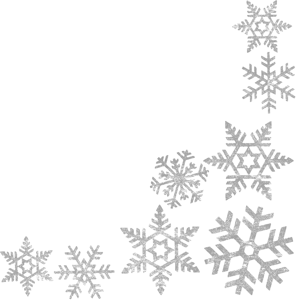 collection of snowflake. Snow frame png