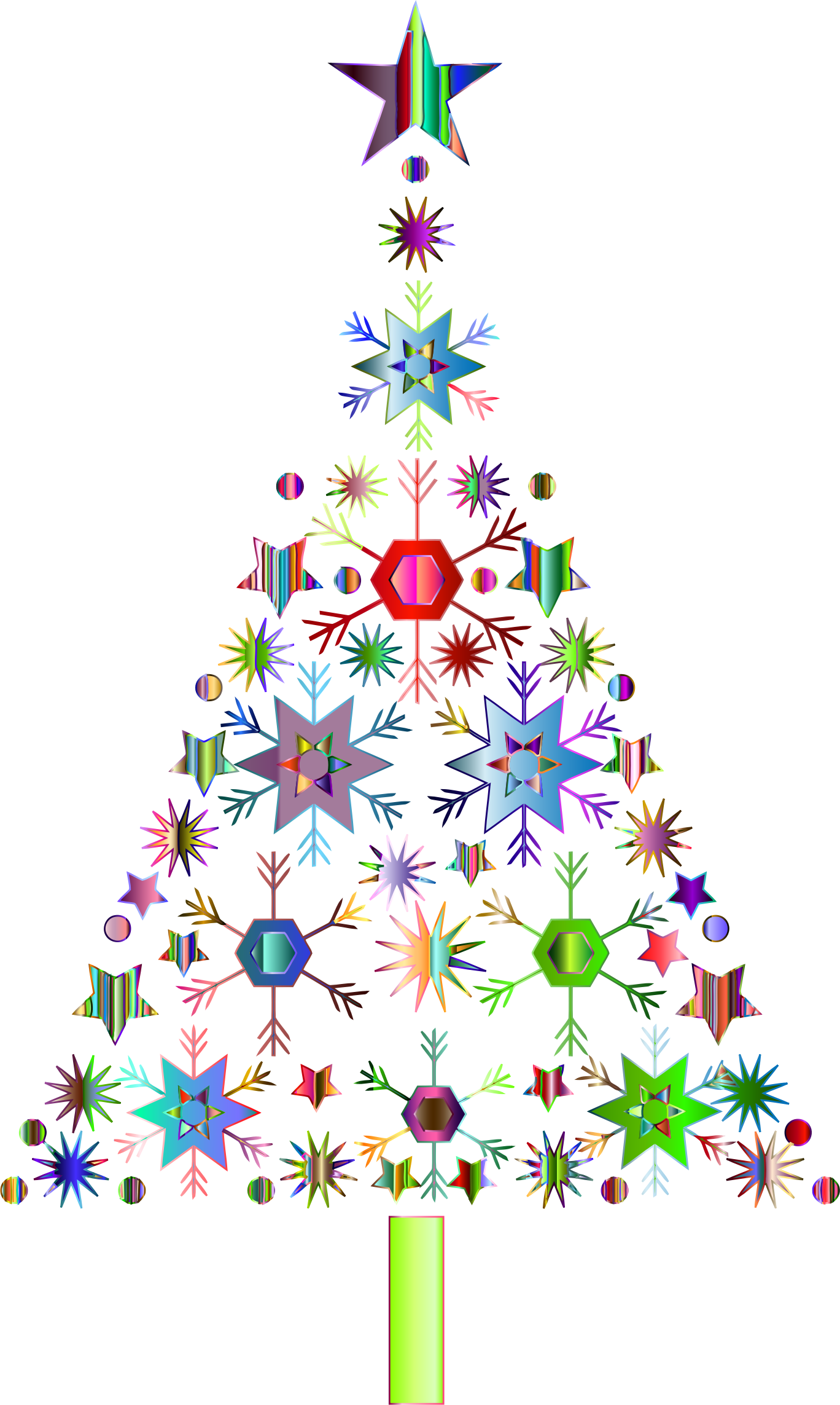 Snowflake christmas tree by. Clipart trees abstract