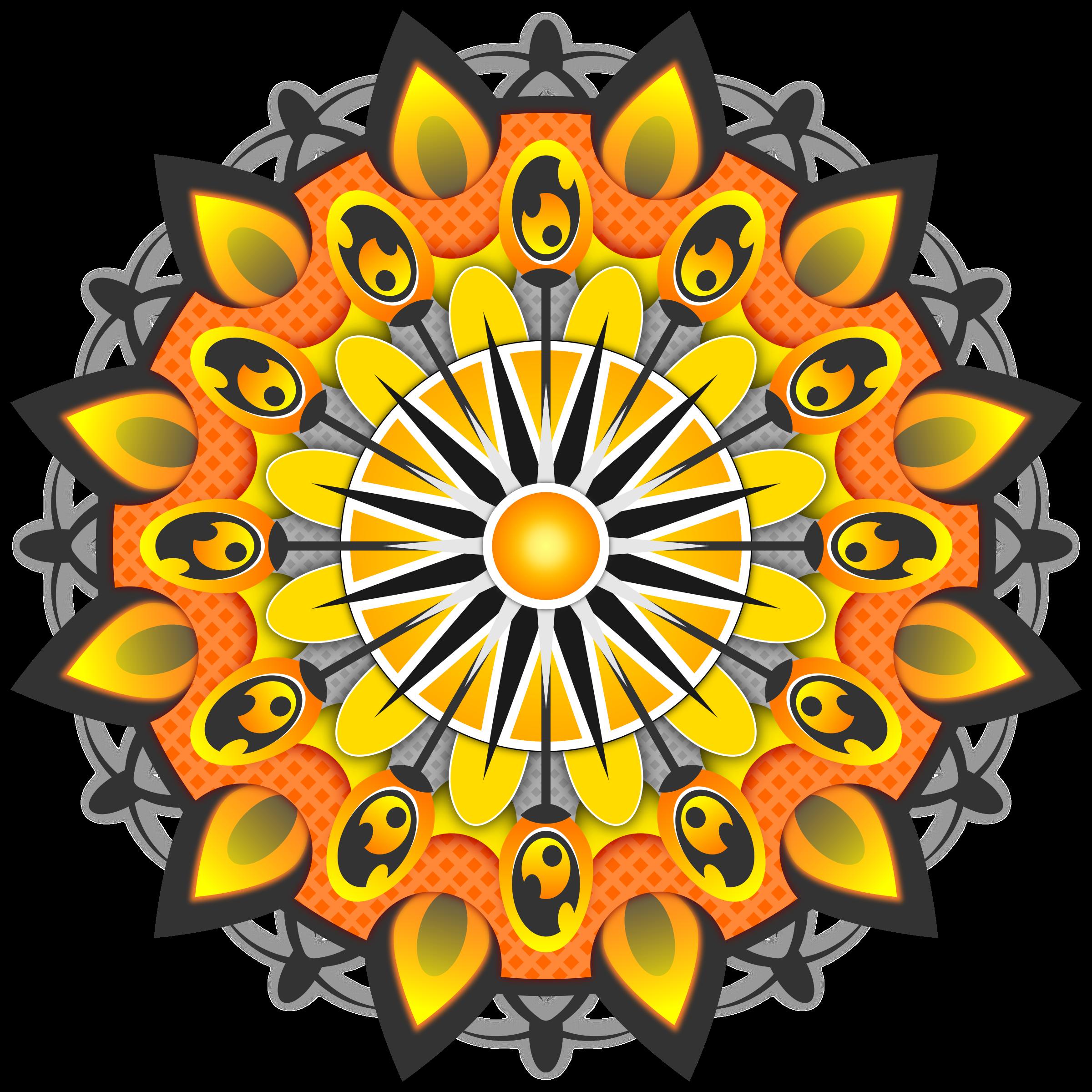 Clipart yellow big image. Mandala vector png