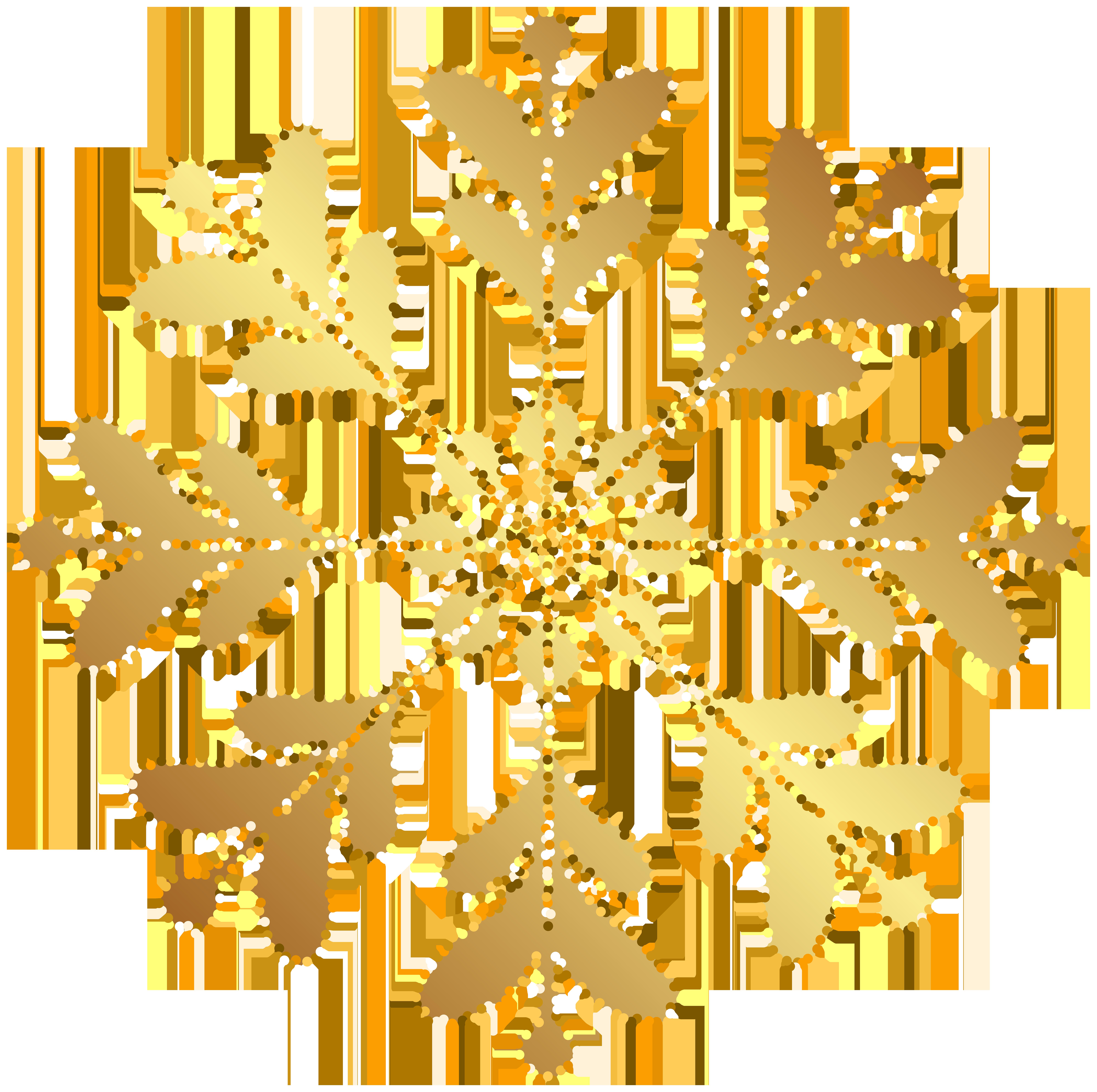Snowflake clipart yellow. Gold transparent clip art