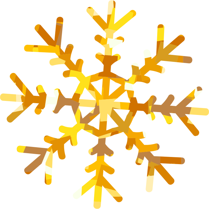Holiday card simple wllp. Snowflake clipart yellow