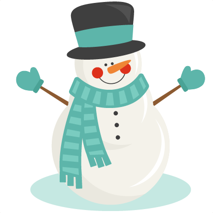 Winter svg scrapbook cut. Snowman clipart