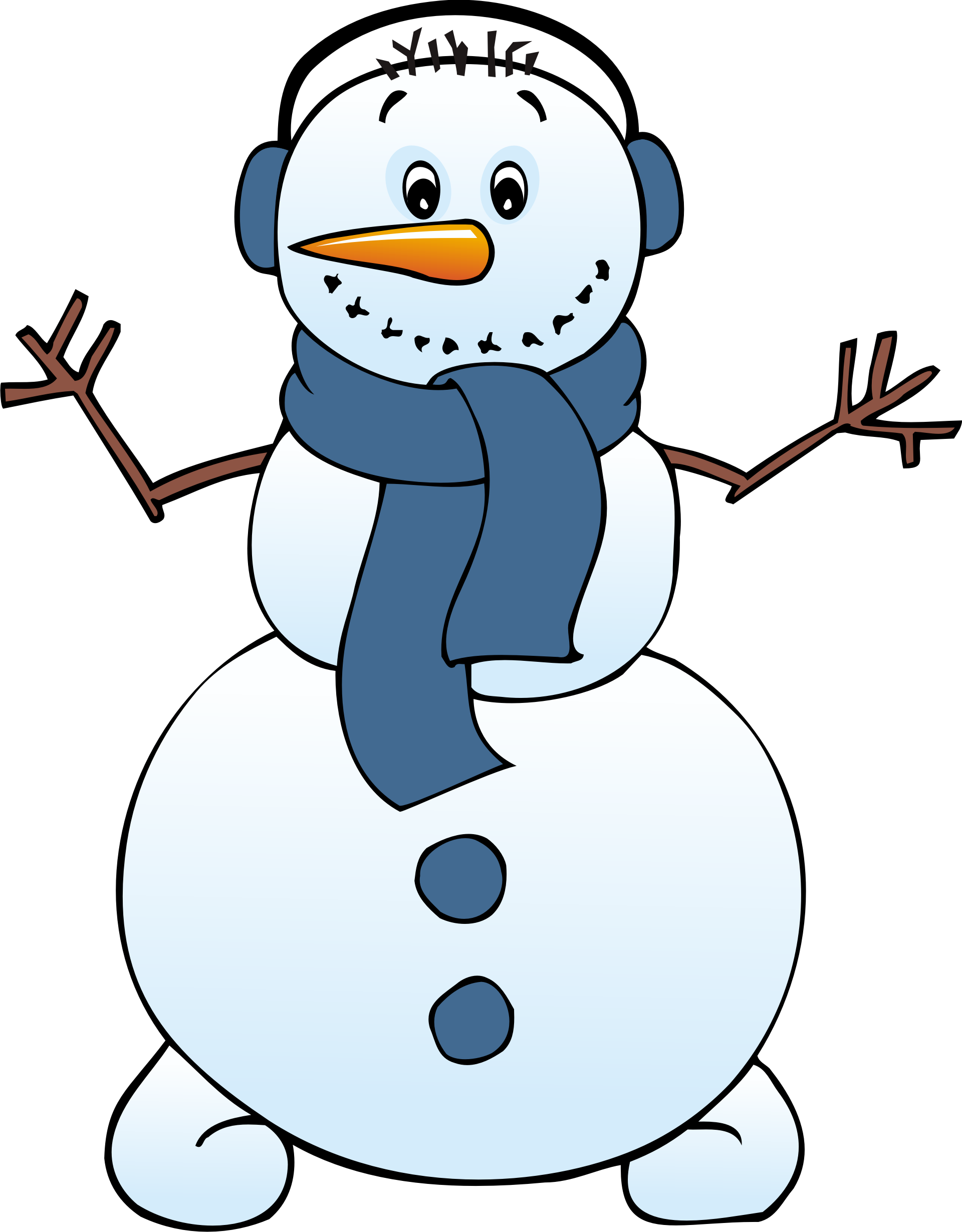 Clipart sleeping winter. Cute snowman clip art