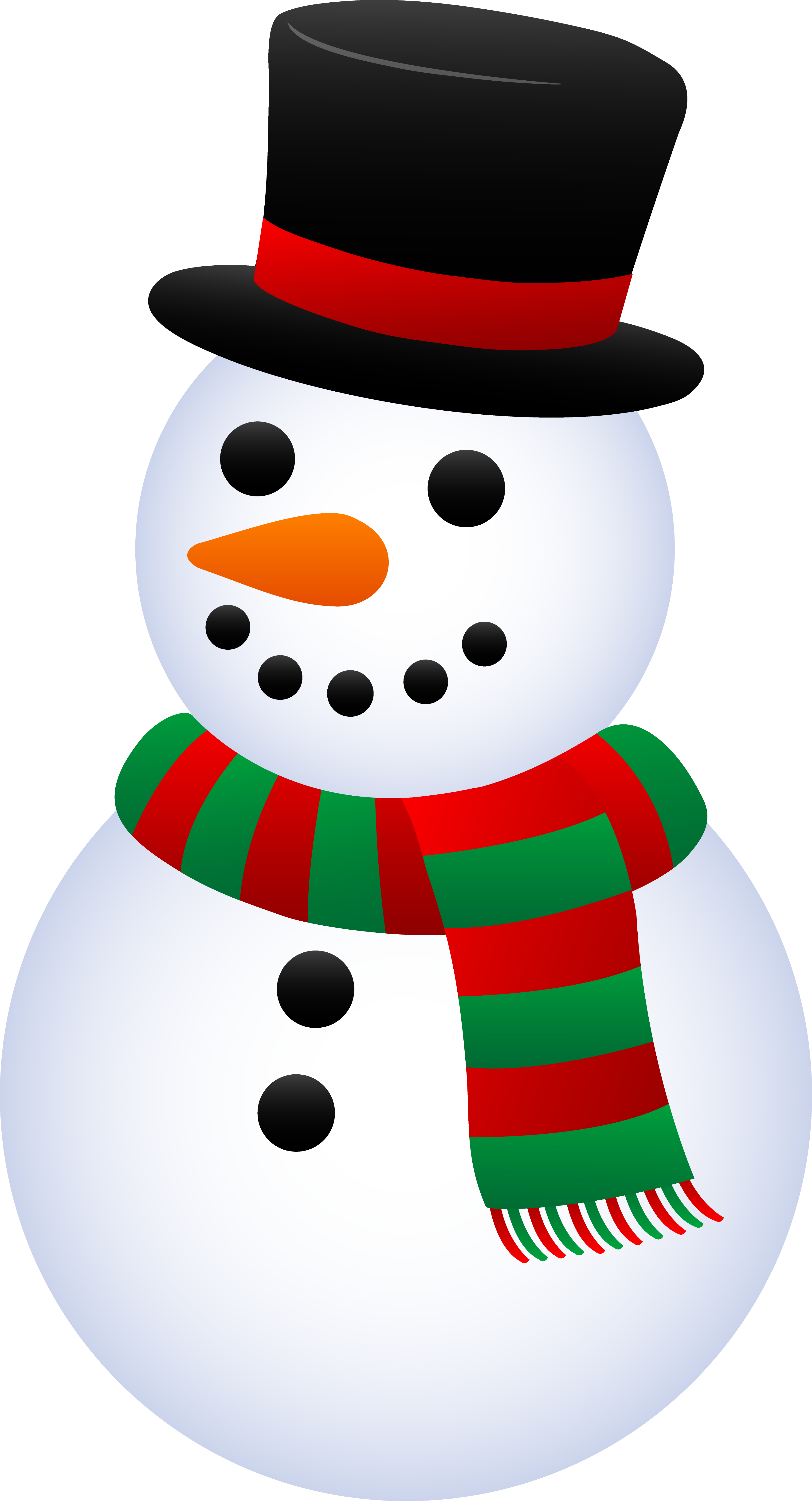 Snowman clipart. Top hat panda free