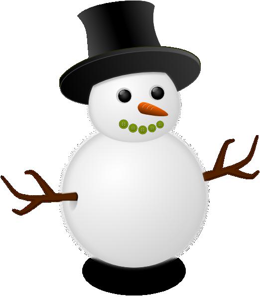 snowman clipart vector