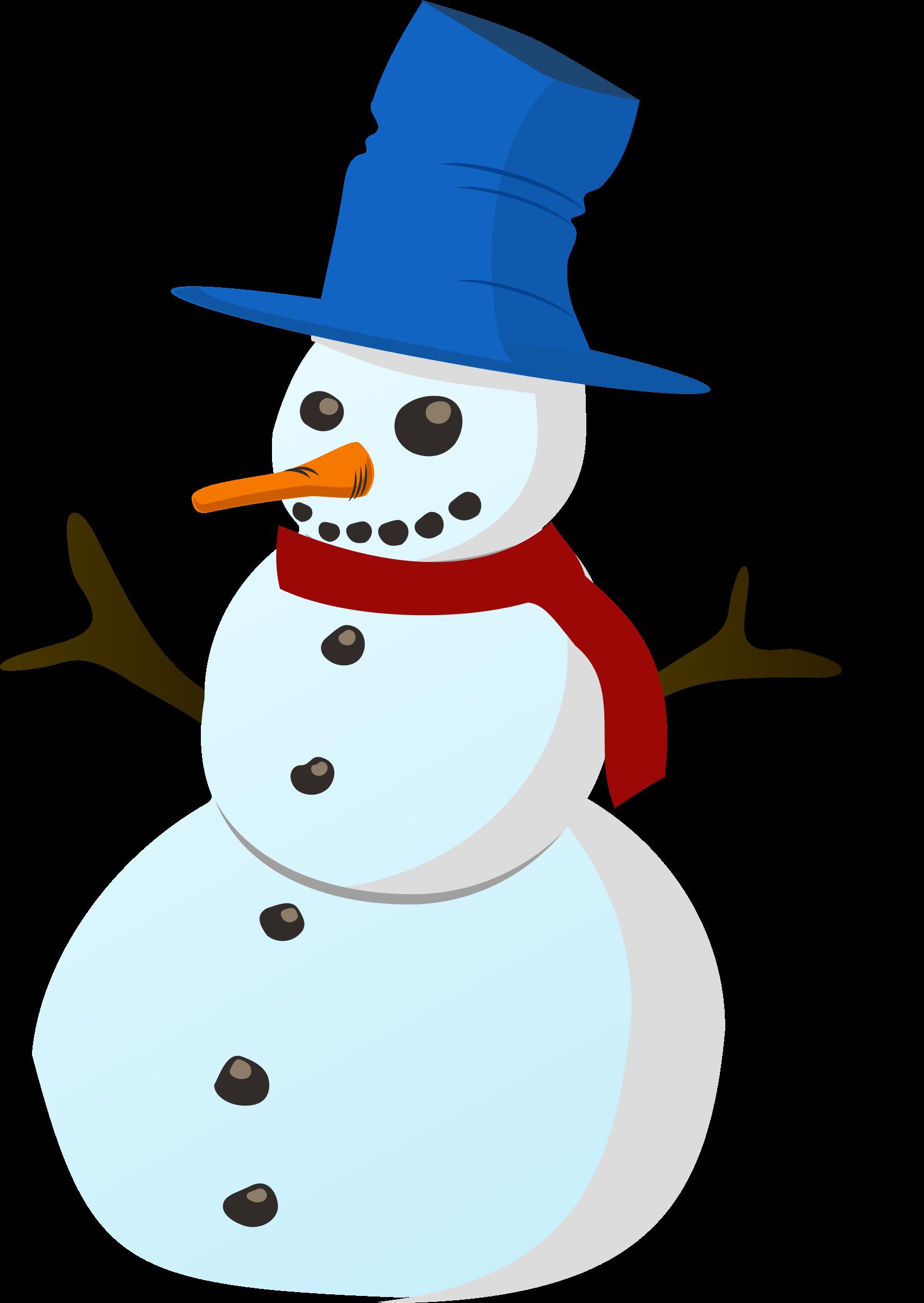 . Snowman clipart landscape