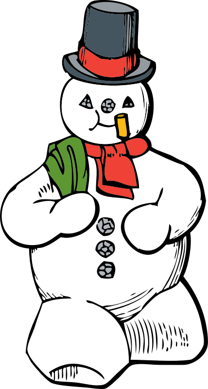 snowman clipart book