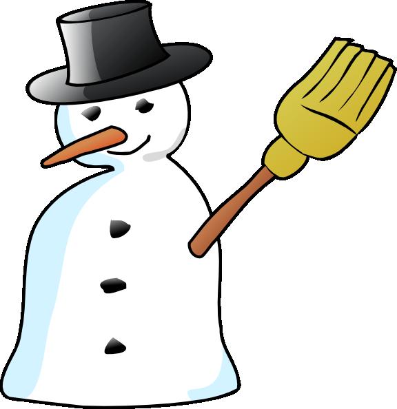 snowman clipart stick