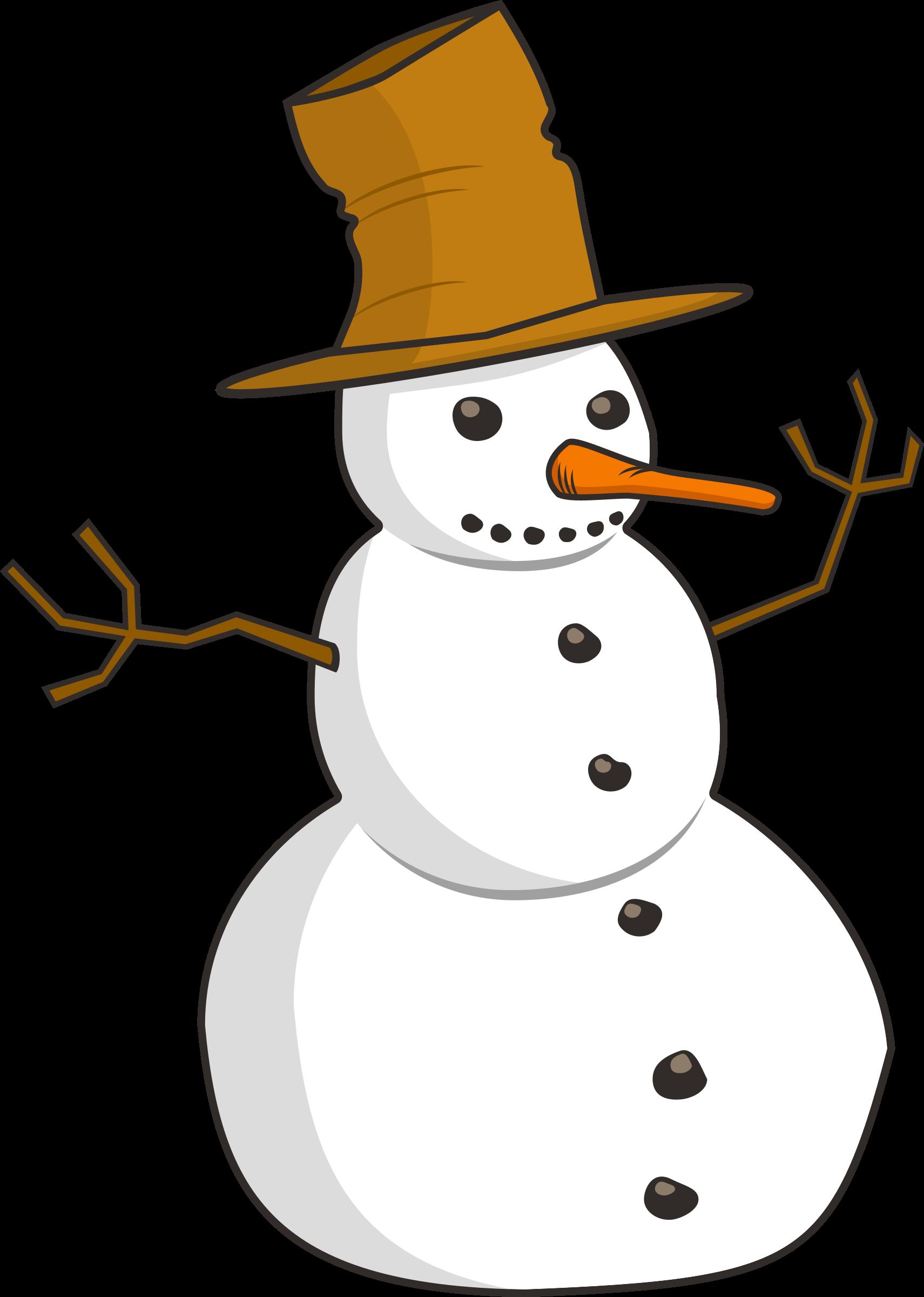 Clipart snowman cold.