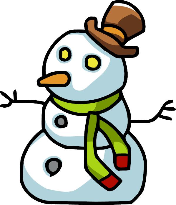 Scribblenauts wiki fandom powered. Clipart snowman cold