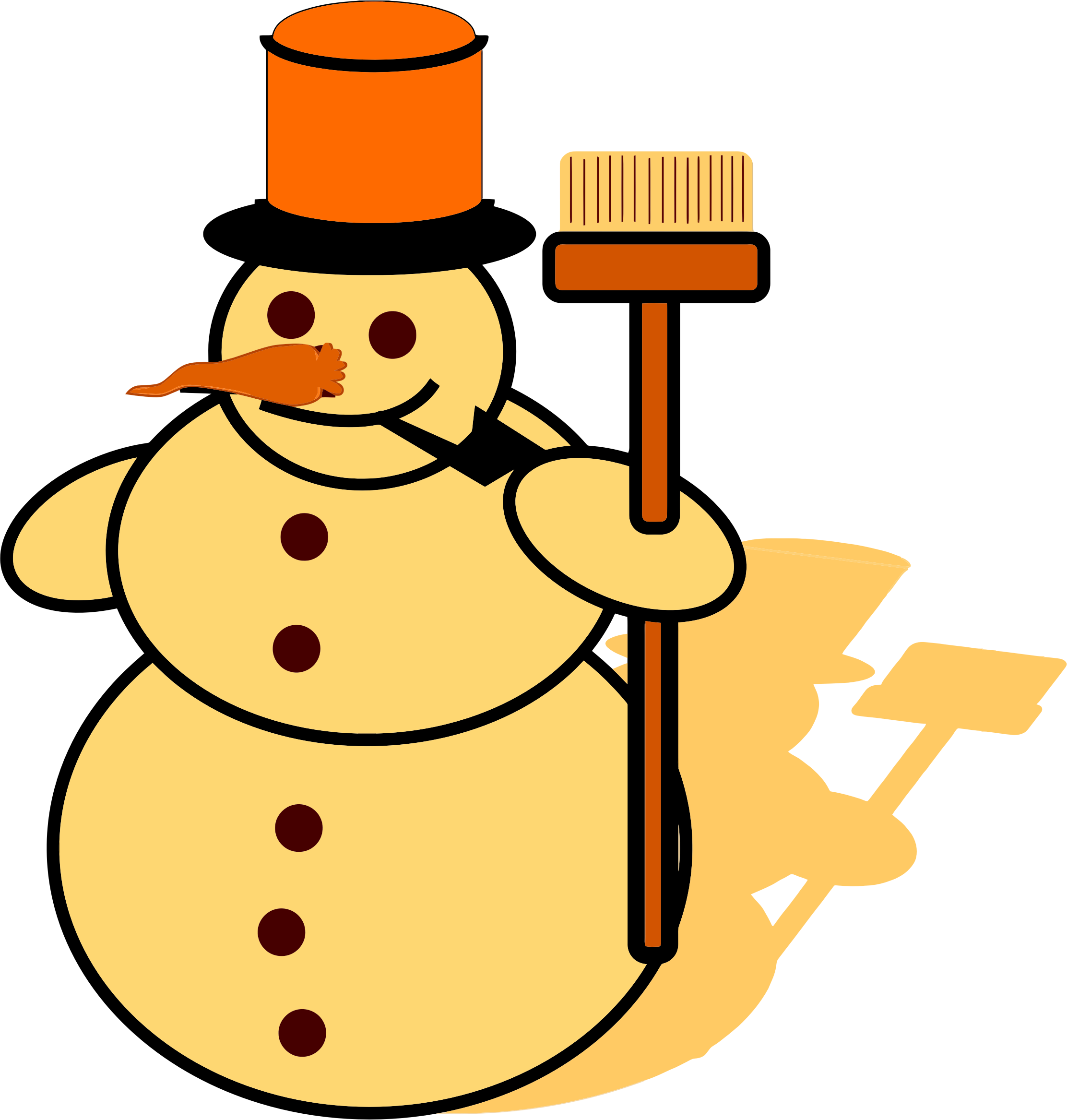 Clipart snowman cold. Yellow big image png