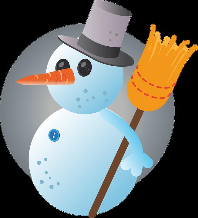 Free photo winter season. Clipart snowman cold