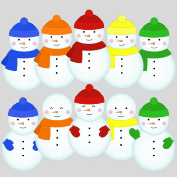 Snowman clipart colorful. Bright colors
