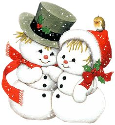 Snowman clipart couple.  best clip art