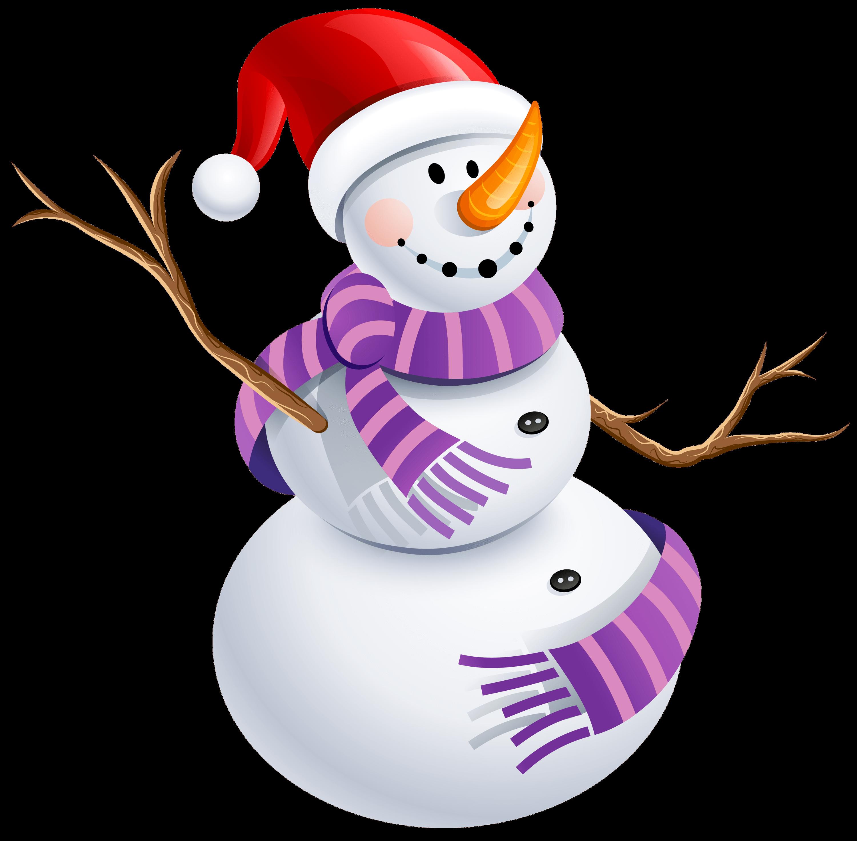 Snowman family transparent png. Purple clipart winter