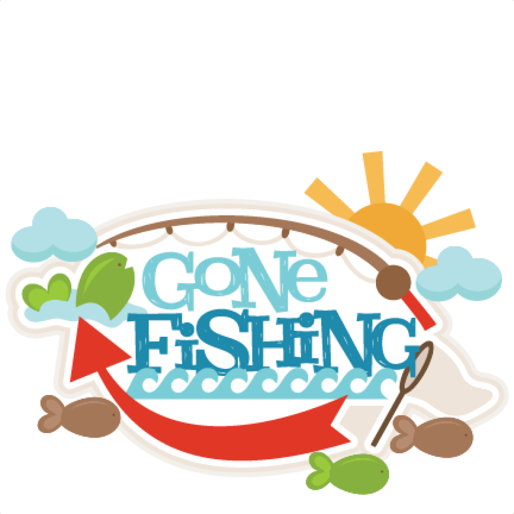 Fish clipart talk. Gone fishing sign free