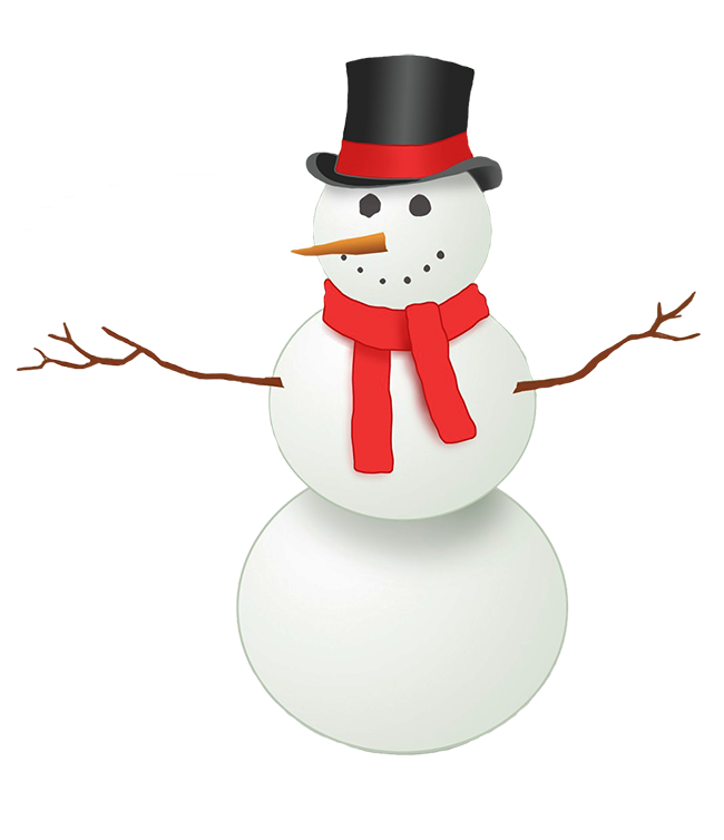 Make clipart snowman clipart. With top hat and