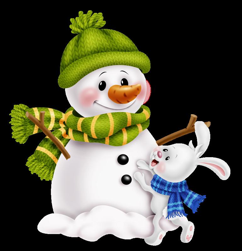 snowman clipart folk art
