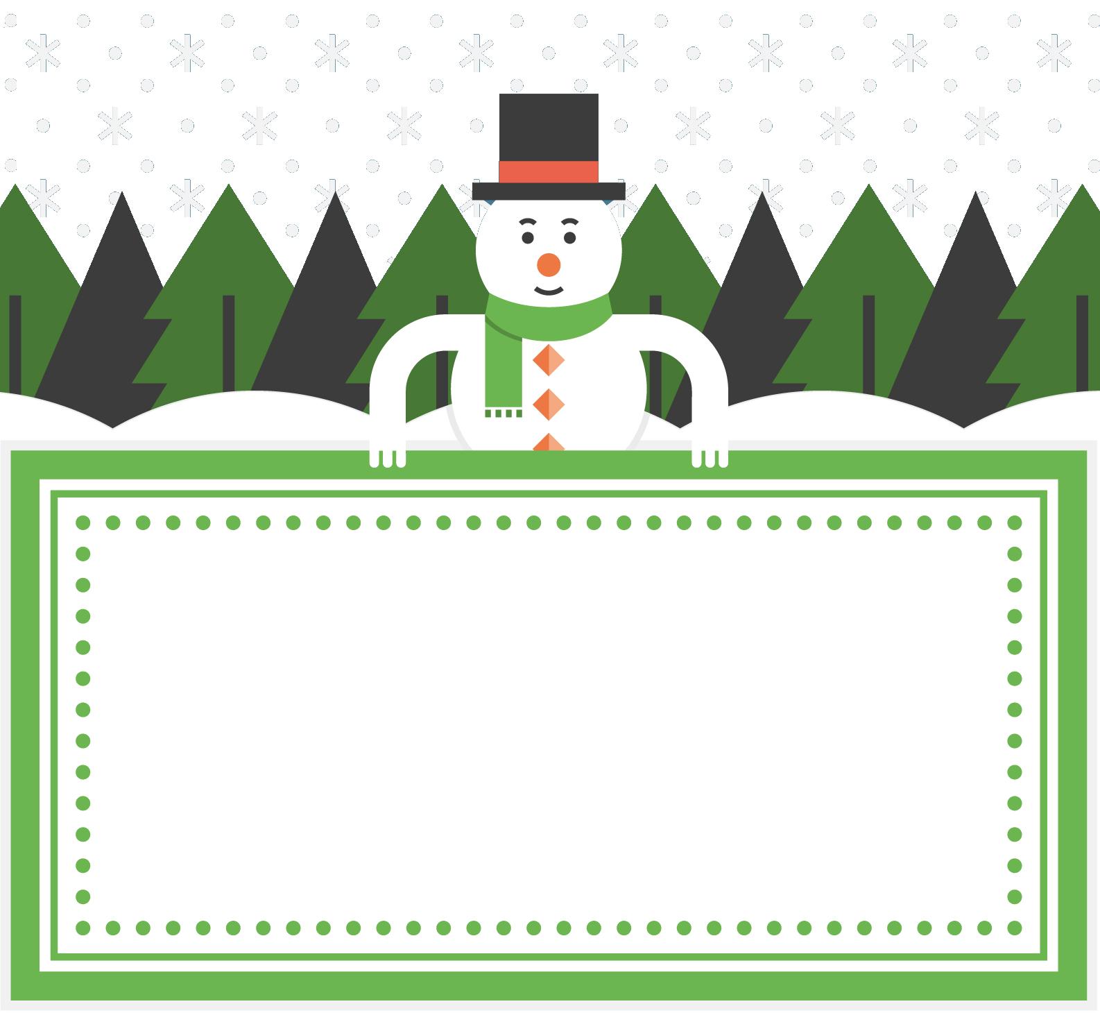 snowman clipart frame
