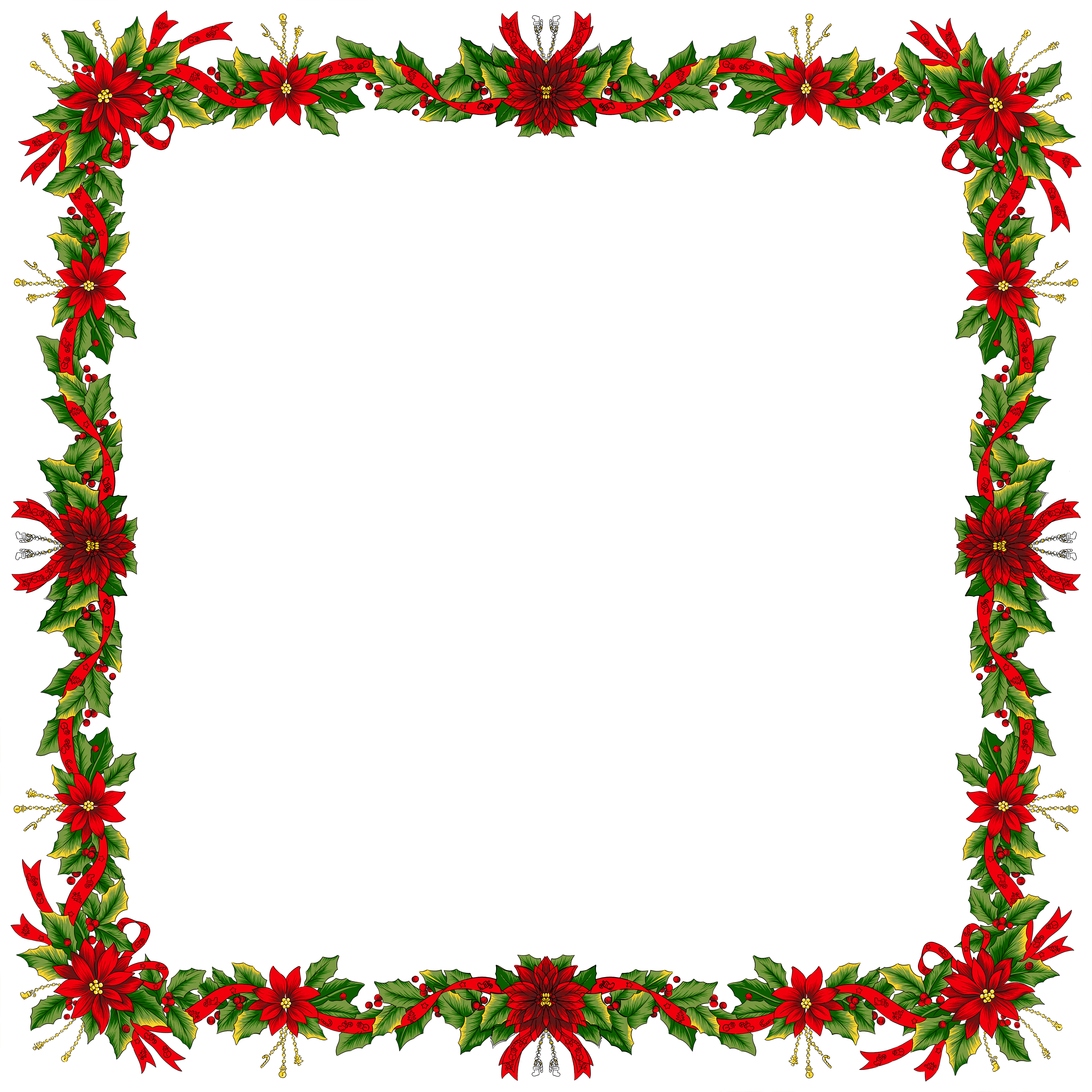 Christmas transparent png photo. Square clipart large
